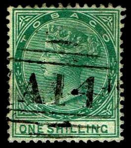 1879 Tobago #4 Queen Victoria Watermark 1 - Used - VF - CV $82.50 (ESP#3253)