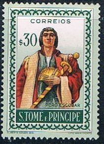 St Thomas and Prince person - pickastamp (SP19R303)