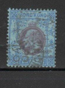 HONG KONG #95  1904  10c  KING EDWARD VII    USED F-VF