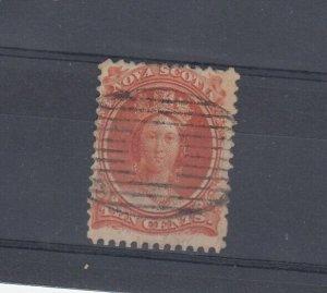 Nova Scotia QV 1860 10c Fine Used SG27 JK6229