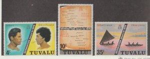 Tuvalu Scott #16-17-18 Stamps - Mint NH Set