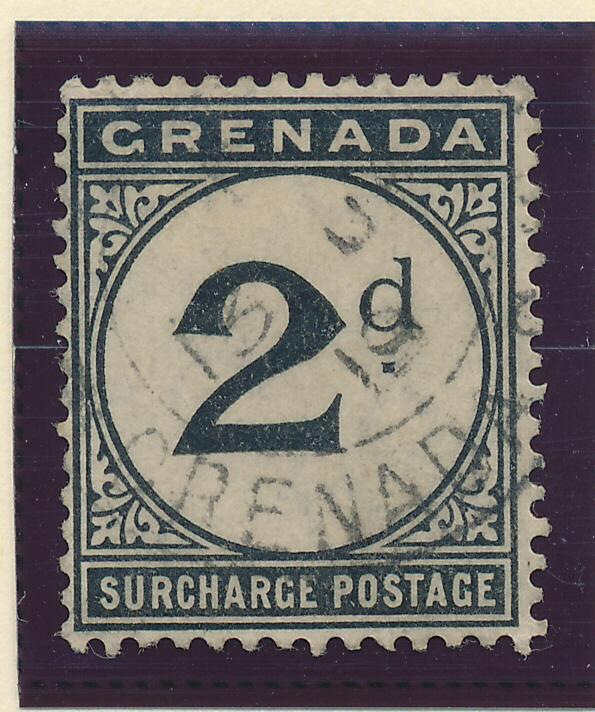 Grenada Stamp Scott #J-2 Postage Due, Used - Free U.S. Shipping, Free Worldwi...