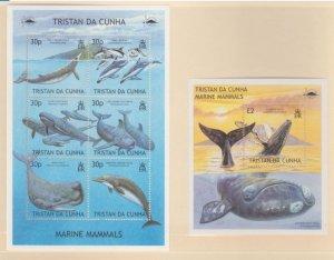 Tristan Da Cunha Scott #718-719 Stamps - Mint NH Souvenir Sheet Set