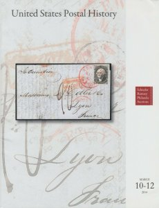 United States Postal History, 2014 Schuyler Rumsey Auction catalog, 2562 lots