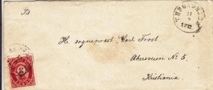 1872, Throdheim to Kristiania, Norway (28042)
