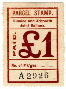 (I.B) Dundee & Arbroath Joint Railway : Parcel Stamp £1