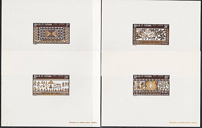 WALLIS AND FUTUNA 1975 Tapa - set of 4 large die proofs....................53915