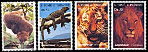 St. Thomas & Prince Islands MNH 1237-40 Animals Fauna & Greenpeace