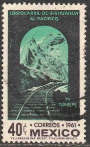 MEXICO 919, 40¢ OPENING Chihuahua-Pacific Railroad USED. VF. (964)