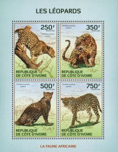 Leopard Stamp Panthera Pardus Pardus Wild Animal S/S MNH #1594-1597