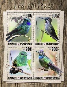 C A R - 2019 - Humming Birds - Perf 4v Sheet  - M N H