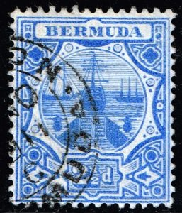 UK STAMP BERMUDA 1908 -1910 Dry Dock - 2 1/2 P. USED