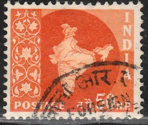 INDIA 286, MAP OF INDIA, USED, VF. (421)