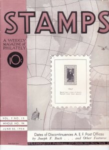 Stamps Weekly Magazine of Philately June 30, 1934 Stamp Collecting Magazine