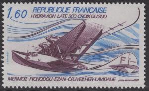 FRANCE SG2552 1982 DISAPEARANCE OF CROIX DU SUD MNH