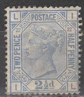 Great Britain  #82  Plate 22 F-VFUsed CV $40.00 (A2667)