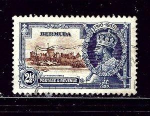 Bermuda 102 Used 1935 KGV Silver Jubilee  #2  penciled numbers on back