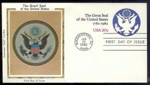 UNITED STATES FDC 20¢ Great Seal Envelope 1982 Colorano