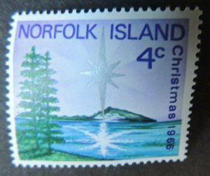 Norfolk Island 1966 christmas religion nativity trees star MNH