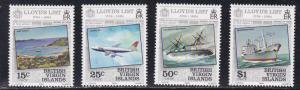British Virgin Islands # 466-469, Lloyds List - Ships, NH, 1/2 Cat