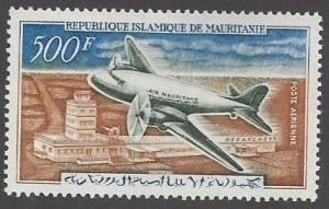 Mauritania #C19 MNH single, plane over Nouakchott airport, issued 1963