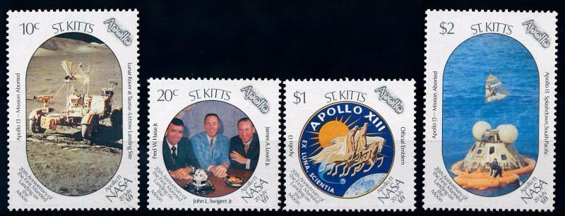 [66144] St. Kitts 1989 Space Travel Weltraum Apollo 13  MNH