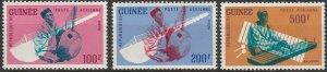 Guinea, #C32-C34 Unused From 1962