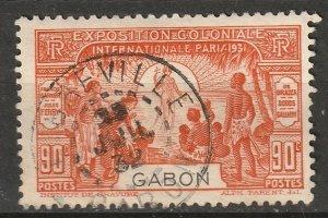 Gabon 1931 Sc 122 used Libreville CDS