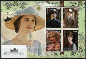 Guyana 2014 MNH Downton Abbey Lady Mary Crawley 4v M/S TV Series Stamps