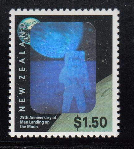 New Zealand 1994 MNH #1225 $1.50 First Manned Moon Landing, 25th anniversary ...