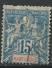 Martinique  ^ Scott # 40 - Used
