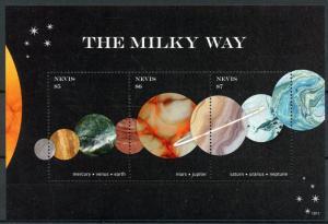 Nevis 2018 MNH Milky Way Mars Venus Earth Jupiter 3v M/S II Planets Space Stamps