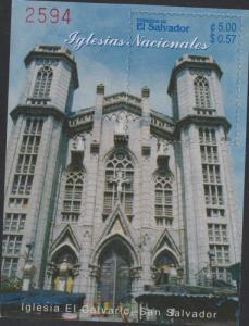O) 2003 EL SALVADOR, NATIONAL CHURCHES, SOUVENIR MNH