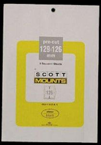 Scott/Prinz Pre-Cut Souvenir Sheets Small Panes Stamp Mounts 129x126 #1021 Clear