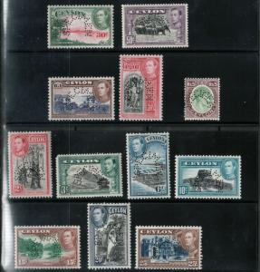 Ceylon #278s / #289s Very Fine Never Hinged With Curved Specimen Perforation