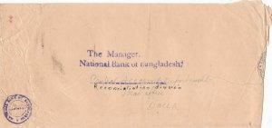 bangladesh overprints on pakistan early stamps cover ref 12829