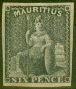Mauritius 1861 6d Dull Purple SG33 Fine Mtd Mint