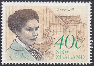 New Zealand # 987 used ~ 40¢ Grace Neill