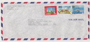 Netherlands Antilles #335 580 & 544 on commercial cover 2 NY
