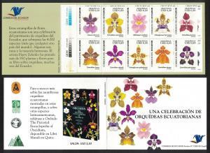 Ecuador Orchids 10v Booklet SG#2902-2911 MI#2948-2957