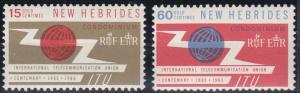 New Hebrides - British issues 108-109 MNH (1965)
