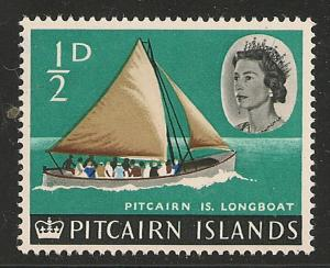 Pitcairn Islands #39 VF MNH - 1964 1/2d Longboat