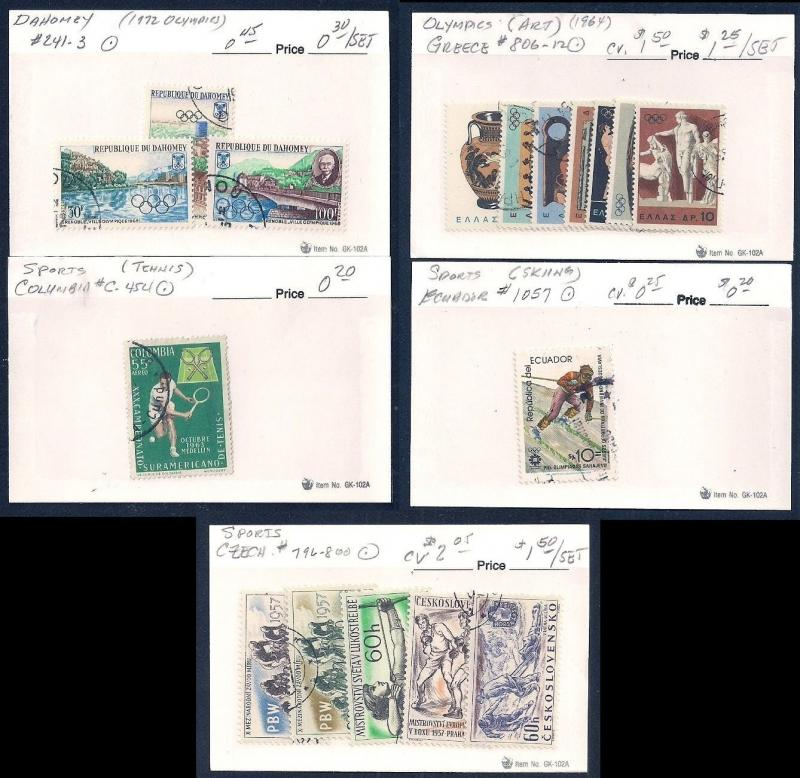 WORLDWIDE Topical Sports (83) Different Sets Mint & Used