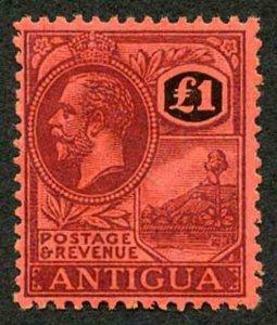 Antigua SG61 1921-29 One Pound M/M