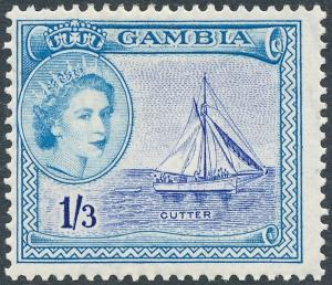 Gambia 1956 1s3d Ultramarine & Light Blue SG179a MH #1