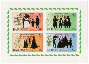 (I.B) Cinderella Collection : Bardsey Island - Christmas (Proof Sheet)
