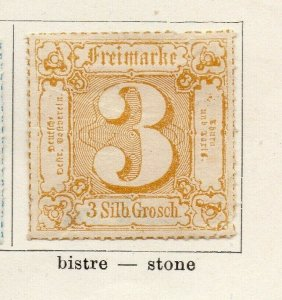 Tour & Taxis 1865-66 Early Issue Fine Mint Hinged 3s. NW-04580