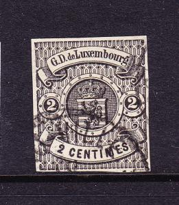 LUXEMBOURG  1859-64  2c  ARMS  IMPERF FU  Sc 5