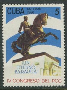 Cuba -Scott 3351 - Communist Party - 1991- MNH- Single  5c -Stamp