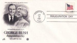 1981, George Bush Inauguration Day Cover, Art Craft/PCS (E11345)